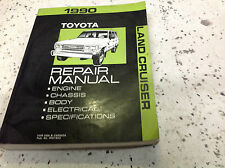 1990 TOYOTA LAND CRUISER Service Shop Repair Workshop Manual OEM Book 1990