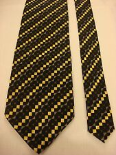 Kilburne and Finch Men's Silk Neck Tie -Blues Multi-color checkered print