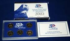 2002  U.S. Mint Made STATE QUARTERS Proof Set in original BLUE box