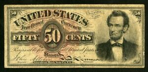 US Paper Money 1869 50c Lincoln Fractional Currency NO RESERVE!