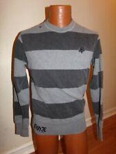 FOX RIDERS COMPANY Men' Small Gray Pullover Long Sleeve Sweatshirt.