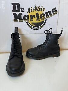 Dr. Martens 1460 Pascal Mono Comfy Leather Boots Size UK 1 EU 33