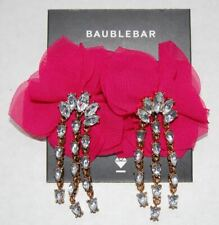 NWT Baublebar 'Amaryllis' Hot Pink Floral Crystal Drop Earrings