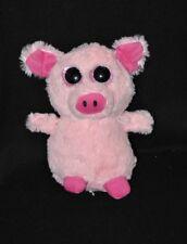 Peluche doudou cochon FIZZY rose 2 tons gros yeux globuleux durs 22 cm TTBE