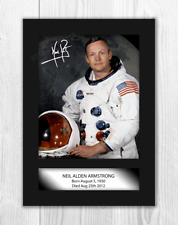 More details for neil armstrong a4 signed mounted photograph picture poster choice of frame