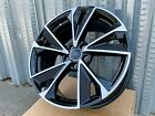 18x8 +35 5X112 RS STYLE BLACK MACHINED FACE WHEELS FITS AUDI A4 A5   set of 4
