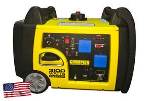 Champion 73001I-P 3100 Watt Petrol Fuel Generator With Remote Electric Start
