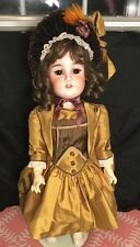 "Large 29"" German Bisque Girl 1906 Schoneau And Hoffmeister Compo Body"