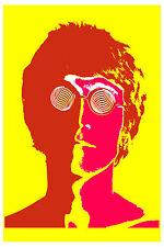 The Beatles * Psychedelic * 4 Poster set 1967  12x18 John, Paul, George & Ringo