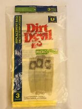 Dirt Devil Type U Microfresh Vacuum Bags (3-Pack) Genuine replacement bags