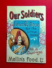 More details for a very rare victorian-mellin's food painting book for little ones-our soldiers-
