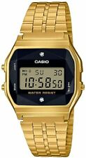 CASIO STANDARD A159WGED-1JF Men's Watch With natural diamond Gold New from japan