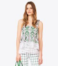 Tory Burch Georgette Silk Top 12 NWT XL Runway Spring 2017 Garden Party