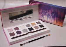 Cargo Large Eye Shadow Palette GETAWAY 12 Shadows, Dual-Ended Brush Sealed Box