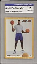 1993 Classic Draft Picks Shaquille O'Neal Card #104 Grademycards.com 10 Gem Mint