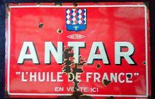 ancienne plaque émaillé HUILE ANTAR FRANCE 80X120  garage,auto,moto