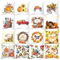 1PC Halloween Pumpkin Pillow Case Waist Throw Cushion Cover Sofa Home Decor LIU9