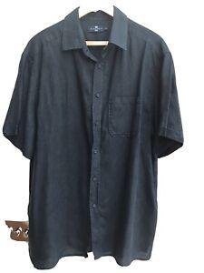 Blue Harbour M&S Linen shirt XXL Black VGC