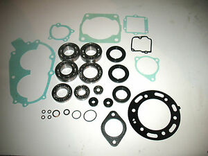 POLARIS 400L 400 COMPLETE ENGINE REBUILD KIT CRANKSHAFT BEARING SEALS GASKET WP