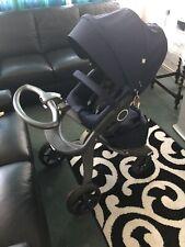 stokke xplory v5 Deep Blue, Stokke White Winter Kit & Maxi Cosi pebble+ Car Seat