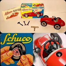 Vintage Schuco Grand Prix Racer Car 1070 Tin Metal German Wind-Up Toy in Box