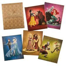 Disney Fairytale Lithographs Prints New Set Limited Edition LE Villains Ariel