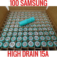 100 SAMSUNG 18650 INR18650-20R 2000MAH 15A CELLS LITHIUM ION BATTERY 90% AND UP