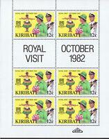 KIRIBATI 1982 ROYAL VISIT - SHEETS OF 6