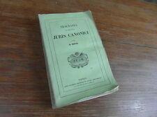 D. BOUIX / TRACTATUS DE PRINCIPIIS JURIS CANONICI Lecoffre 1852