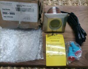 WAC Lighting 2052-30SS 12V 4W 1 LED Sqaure Indicator Light with Honeycomb