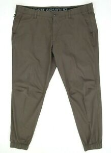 Under Armour Performance Fitted Jogger Pants Maverick Brown Size 44 x 34 1280560