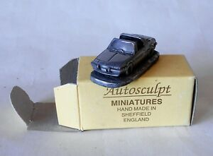 Fiat X/19 X 19 1300 Small Pewter Resin Model 1/87 Made in Sheffield Autosculpt