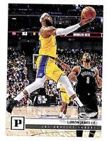 2019-20 Panini Chronicles #112 LeBron James base card Lakers