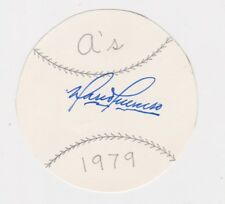 "MARIO GUERRERO SIGNED OAKLAND A'S 3"" BASEBALL DISC AUTO AUTOGRAPH DATED 1979 JSA"