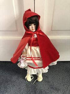 """International Collectors Society LITTLE RED RIDING HOOD 12"""" Porcelain Doll NEW"""