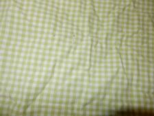 Pottery barn Kids Green Gingham Checker Fitted Crib Sheet (Fabric) Toddler bed