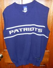 Reebok New England Patriots Men's Vintage Style Sweater Vest Size Large NFL