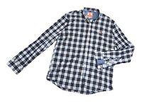 IMMACULATE mens 'BARACUTA' Shirt Size L (BLUE CHECK)
