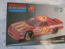 "Vintage Monogram 1:24 Scale "" Hut Stricklin "" #27 McDonald'S Thunderbird """