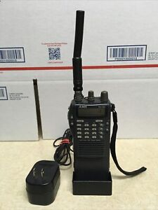 Alinco DJ-580T VHF/UHF FM Twin Band Transceiver w/ Charger *Read Screen*