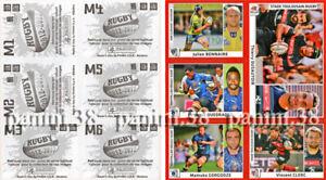 "ULTRA RARE !! EXTRA-STICKERS Sheet M1-M6 ""RUGBY 2012-2013"" PANINI ORIGINAL"