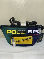 Polo Sport Ralph Lauren Fanny Pack Waist Belt NEW Colorblock Retro Zip Bag Stash