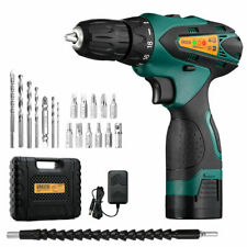 Cordless Electric Drill Kit 2-Speed Driver with Screwdriver and Drill Bit