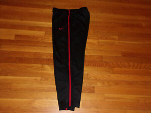 NIKE BLACK/RED ATHLETIC PANTS MENS MEDIUM EXCELLENT CONDITION