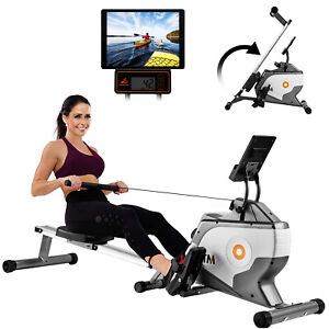 BTM Magnetic Resistance Rowing Machine Foldable with LCD Monitor 8 Levels