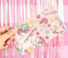Little twin stars pink canvas pencil pen bag handbag makeup bags cosmetic bag