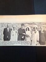 A1-4 Ephemera 1969 Picture Wedding Marilyn Penney Westgate Roger Bishop Folkesto