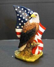 Hand Painted United States Flag and Eagle Casket Corner Decor Life Symbols NIB