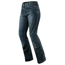 Jeans Mujer Protectores Ce Rodilla Pantalones Señora Moto Scooter Azul Touring