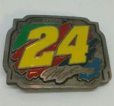 ☆ NEW NASCAR Men's belt buckle Jeff Gordon 24 Pewter  Special Edition F/SH